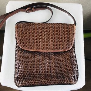 Fossil 1954 brown woven bag